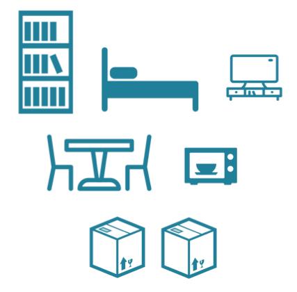 que peut on mettre dans un petit utilitaire de 5 6m3 luckyloc. Black Bedroom Furniture Sets. Home Design Ideas