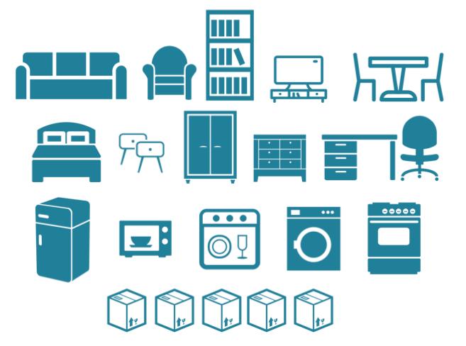 liste des meubles pouvant tenir dans un utilitaire 20m3